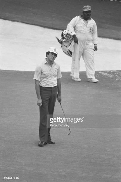 Severiano Ballesteros of Spain during the final round of the 1980 Masters Tournament at Augusta National Golf Club on April 13 1980 in Augusta...