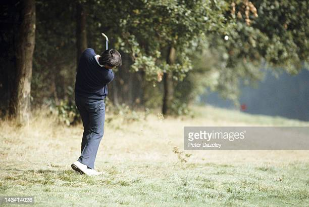 Severiano Ballesteros of Spain during the Suntory World Match Play Championship on the West Course at The Wentworth Club on September 26, 1982 in...