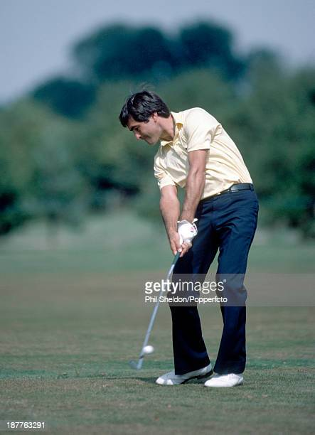 Severiano Ballesteros of Spain in action during the Benson and Hedges International Open Golf Tournament held at the Fulford Golf Club Yorkshire...