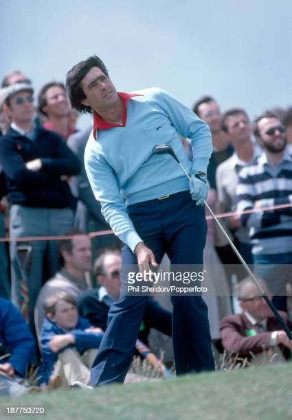 Severiano Ballesteros of Spain tracking his tee shot during the British Open Golf Championship held at the Royal St George's Golf Club Kent circa...