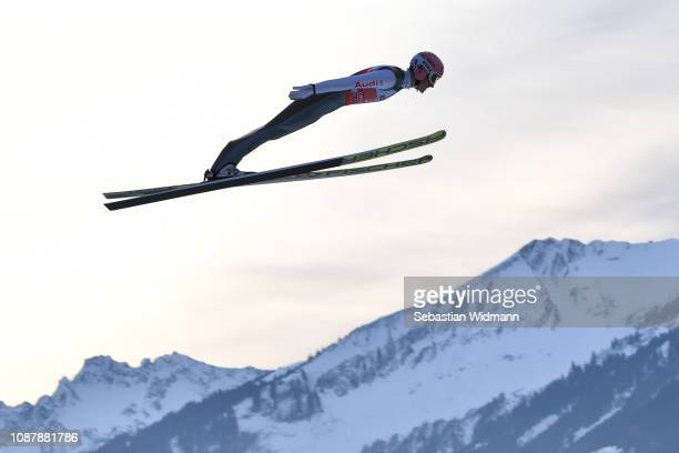 Severin Freund of Germany competes during the practice round for the Four Hills Tournament on December 29, 2018 in Oberstdorf, Germany.