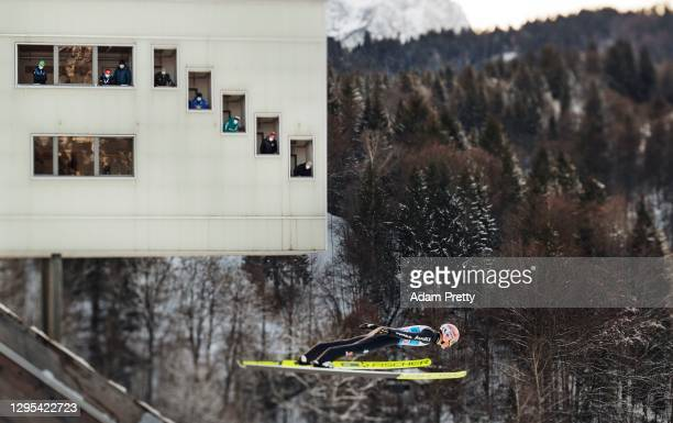Severin Freund of Germany competes during the Qualification at the Four Hills Tournament 2020 Garmisch-Partenkirchen on December 31, 2020 in...