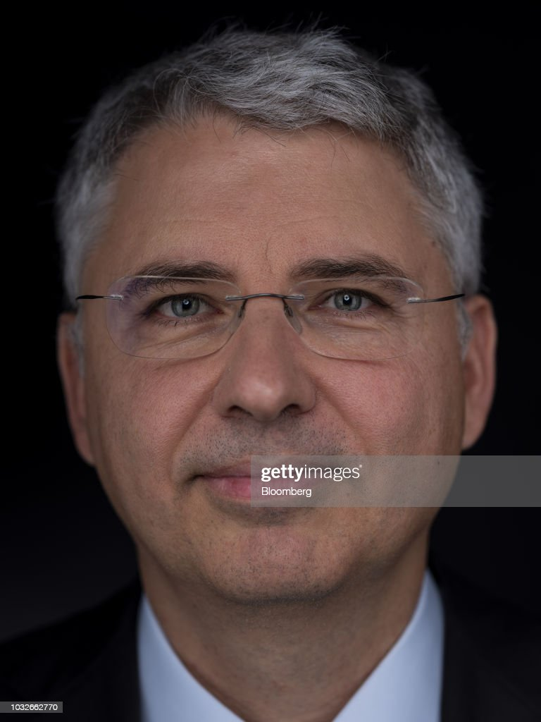 Severin Schwan, chief executive officer of Roche Holding AG, poses for a photograph following a Bloomberg Television interview in London, U.K., on Thursday, Sept. 13, 2018. Roche growth prospects are improving thanks to multiple sclerosis drug Ocrevus, Schwan said in the interview. Photographer: Simon Dawson/Bloomberg via Getty Images