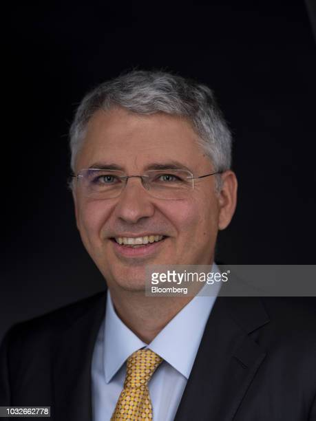 Severin Schwan chief executive officer of Roche Holding AG poses for a photograph following a Bloomberg Television interview in London UK on Thursday...