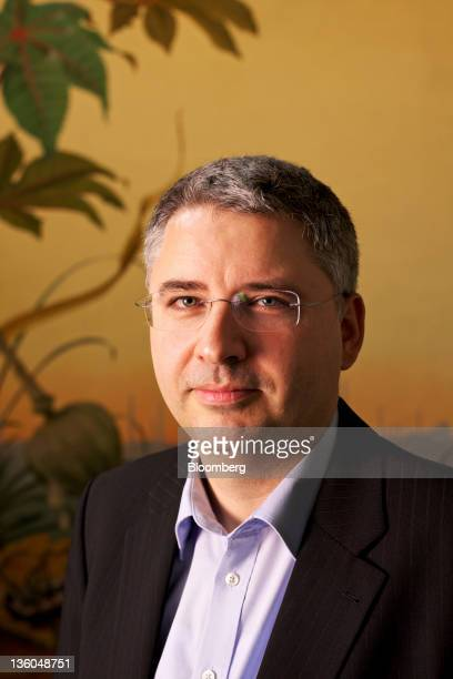 Severin Schwan chief executive officer of Roche Holding AG poses for a photograph at the company's headquarters in Basel Switzerland on Wednesday Dec...
