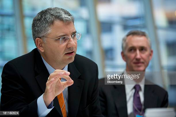 Severin Schwan chief executive officer Roche Holding AG speaks during an interview in New York US on Thursday Sept 19 2013 Roche Holding AG isn't...