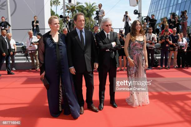 Severine Caneele Vincent Lindon director Jacques Doillon and Izia Higelin attend the 'Rodin' screening during the 70th annual Cannes Film Festival at...