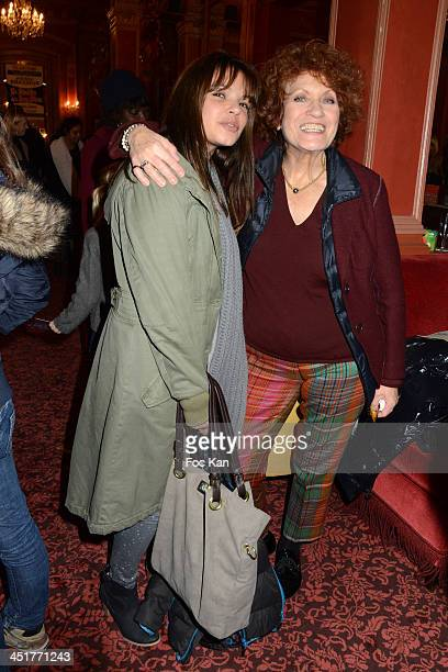 Severine Ferrer and Andrea Ferreol attend the 'Le Bossu de Notre Dame' Premiere at the Theatre Antoine on November 24 2013 in Paris France
