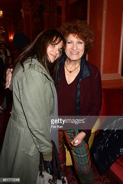 Severine Ferrer and Andrea Ferreol attend the 'Le Bossu de Notre Dame' Premiere at the Theatre Antoine on November 24 2013 in Paris France