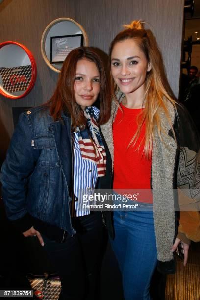 "Severine Ferrer and Joy Esther attend Reem Kherici signs her book ""Diva"" at the Barbara Rihl Boutique on November 8, 2017 in Paris, France."