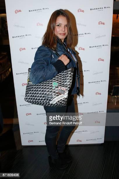 Severine Ferrer attends Reem Kherici signs her book 'Diva' at the Barbara Rihl Boutique on November 8 2017 in Paris France