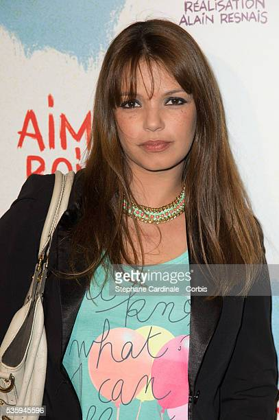 Severine Ferrer attends the premiere of 'Aimer Boire et Chanter' in Paris