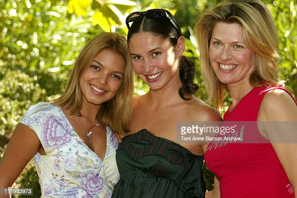 Severine Ferrer Blandine Bury Linda Lacoste during 2003 SaintTropez Television Festival Lola Photocall at Place des Lices in SaintTropez France