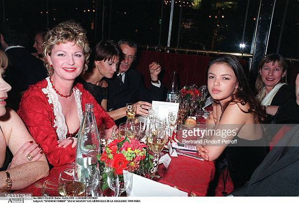 Severine Ferrer Jeane Manson at Les Merveilles De La Joaillerie Gala Evening In Paris 1999