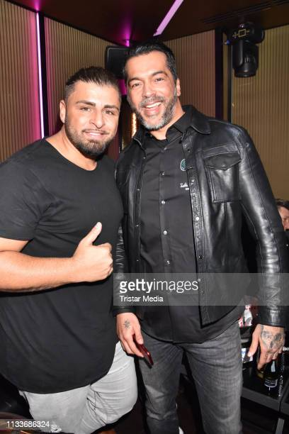 Severino Seeger and Aurelio Savina during the Giulia song release party at Cheshire Cat Club on March 29 2019 in Berlin Germany
