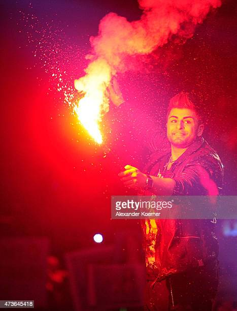 Severino Seeger performs during the finals live of the television show 'Deutschland sucht den Superstar' on May 16 2015 in Bremen Germany