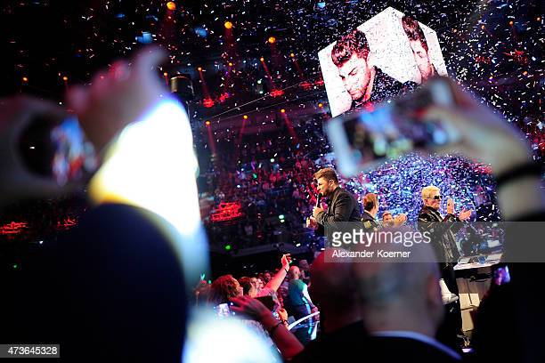 Severino Seeger performs during the live finals of the television show 'Deutschland sucht den Superstar' on May 16 2015 in Bremen Germany Seeger was...
