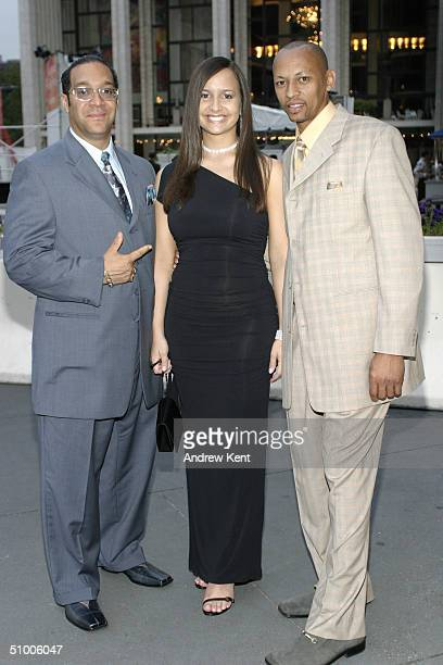 Severino the Jewler actress and singer Zandra and rapper and producer El Nino pose outside before MODA Entertainment's Tribute Screening Of 'Pride Of...