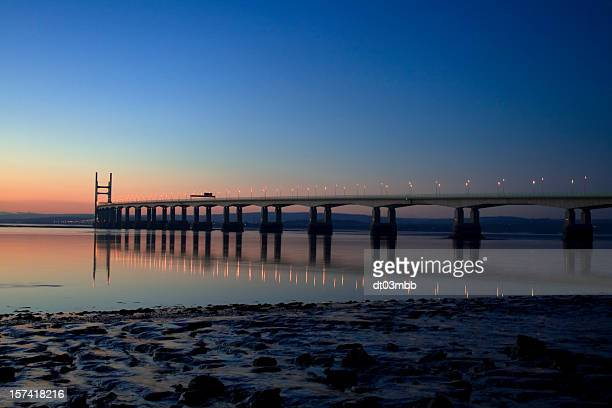 severn bridge - severn river stock pictures, royalty-free photos & images