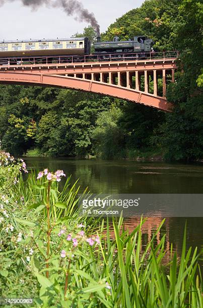 severn valley railway, river severn, shropshire, england - severn river stock pictures, royalty-free photos & images
