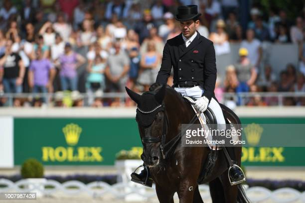 Severo Jurado Lopez of Spain riding Deep Impact 3 during the dressage individual Final Grand Prix of Aachen Freestyle to music CDIO Deutsche Bank...