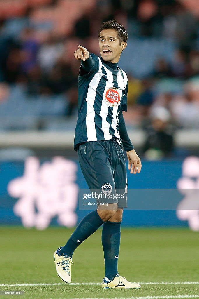 Severo Meza of Monterrey gestures during the FIFA Club World Cup 3rd Place Match between Al-Ahly SC and CF Monterrey at International Stadium Yokohama on December 16, 2012 in Yokohama, Japan.