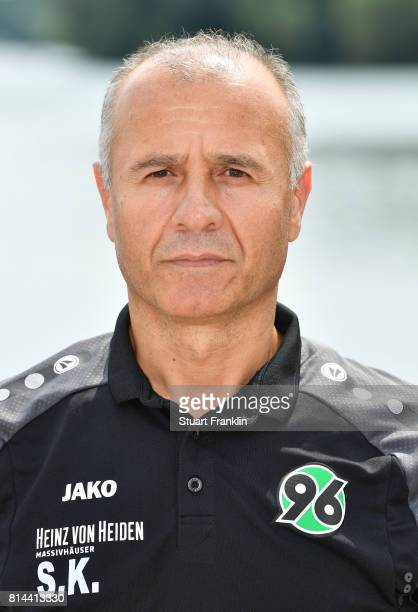 Severt Kaya of Hannover 96 poses during the team presentation at on July 14 2017 in Hanover Germany