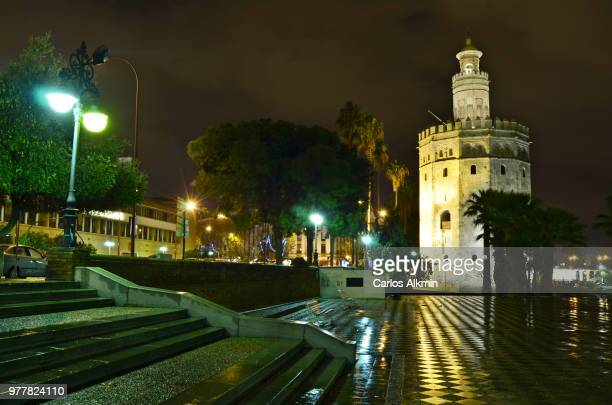 Sevilla by Night - Torre del Oro (Gold Tower) and Guadalquivir River