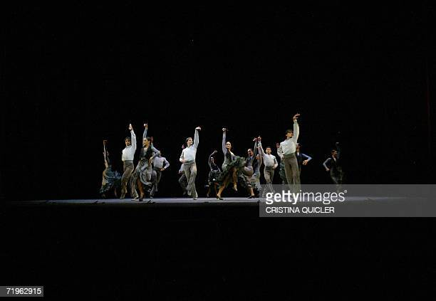 Flamenco's dancers rehearse for the show 'Antologia' of Antonio Gades part of the XIV Flamenco Biennial at the Lope de Vega theatre in Sevilla 21...