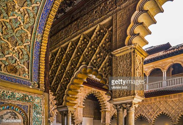 Sevilla Spanien ESP Andalusien alAndalus architektonischen Einfluesse der Mauren Alcázar Reales Alcázares de Sevilla Palaste Festung Pedro I Peter...