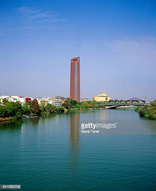 Sevilla Tower on the banks of the Guadalquivir River