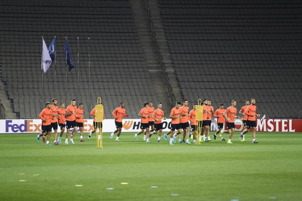 AZE: Sevilla FC - Press Conference and Training