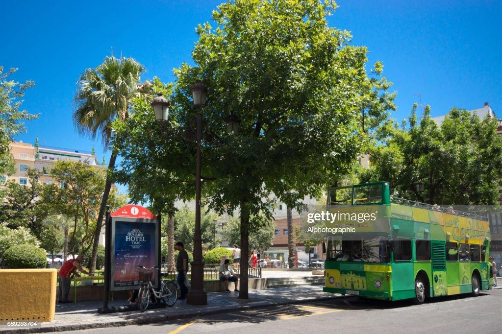 Seville bus stop : Stock Photo