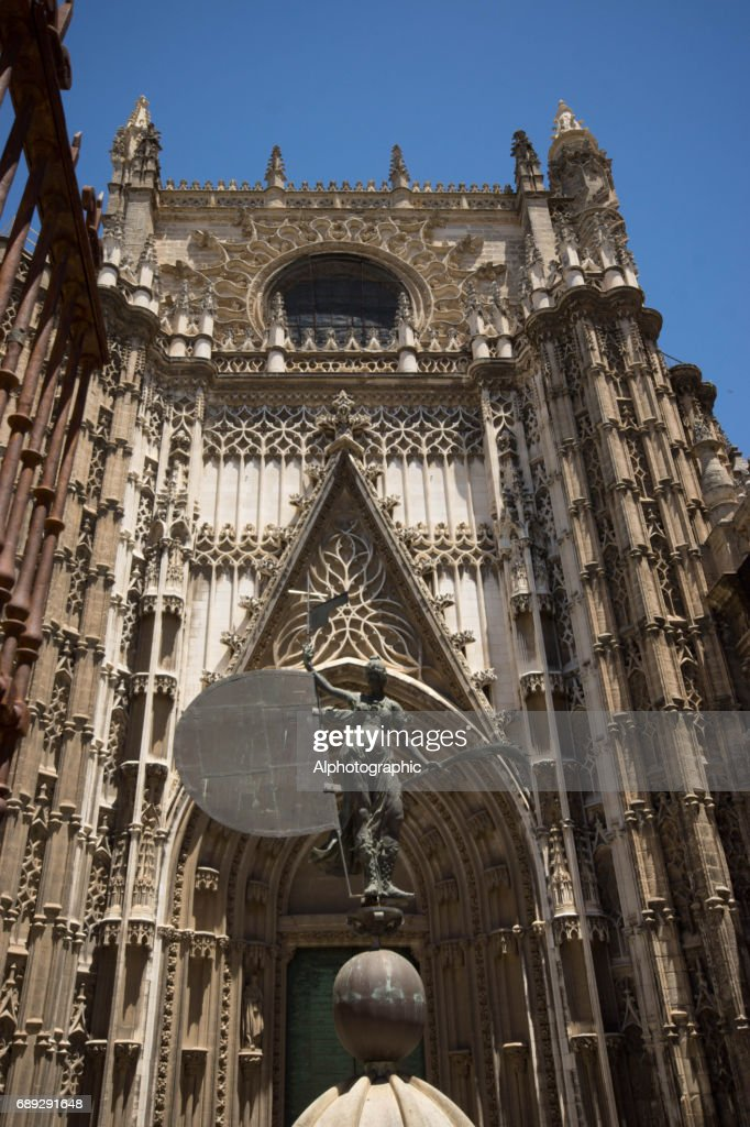 Seville Cathedral doorway : Stock Photo