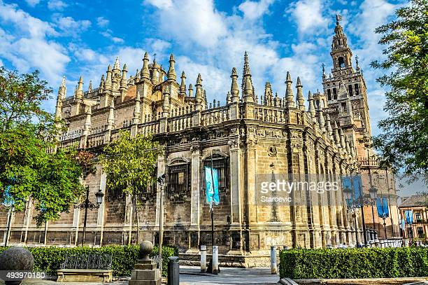 seville cathedral during the day - cathedral stock pictures, royalty-free photos & images