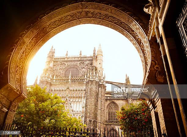 seville cathedral - seville stock pictures, royalty-free photos & images