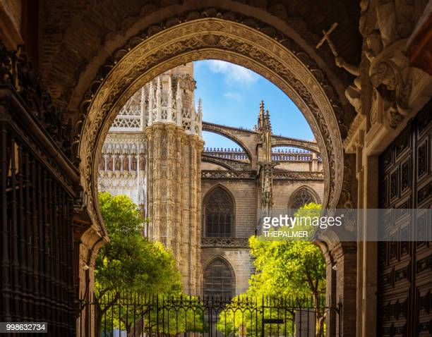 seville cathedral spain - seville stock pictures, royalty-free photos & images