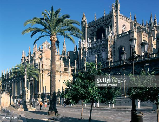 Seville Cathedral Spain The cathedral of Seville was built between 1401 and 1519 on the site previously occupied by the city's Almohad mosque It used...