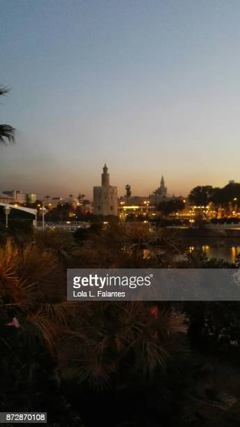 Seville cityscape at sunrise
