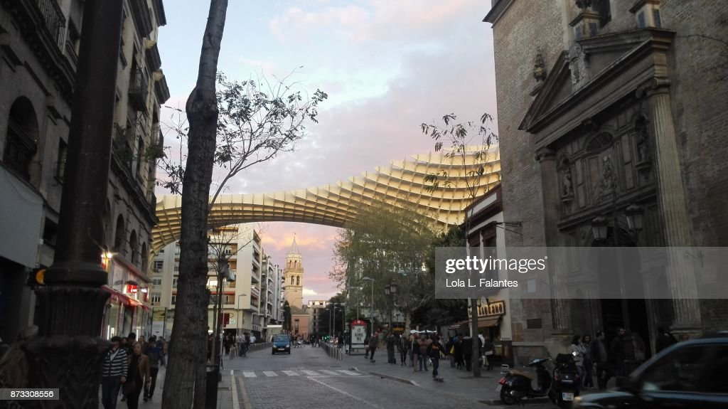 Seville cityscape. Las Setas : Foto de stock