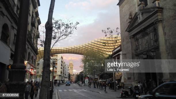 Seville cityscape. Las Setas