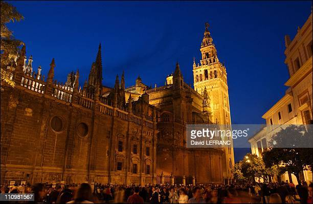 Seville is the capital and 'heart' of Andalusia the fourth largest city In photo The cathedral in Seville Spain in April 2003
