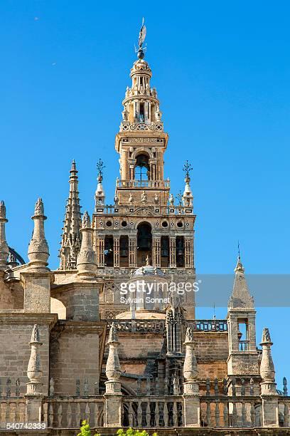 seville, la giralda, seville cathedral - la giralda fotografías e imágenes de stock