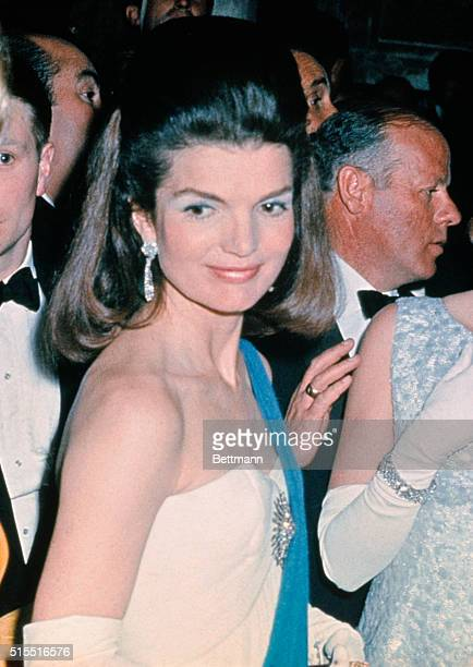 Mrs Jacqueline Kennedy with her hostess the Duchess of Alba as they attend Spain's glittering Debutante Ball at the Palace De Pilatos here April 17...