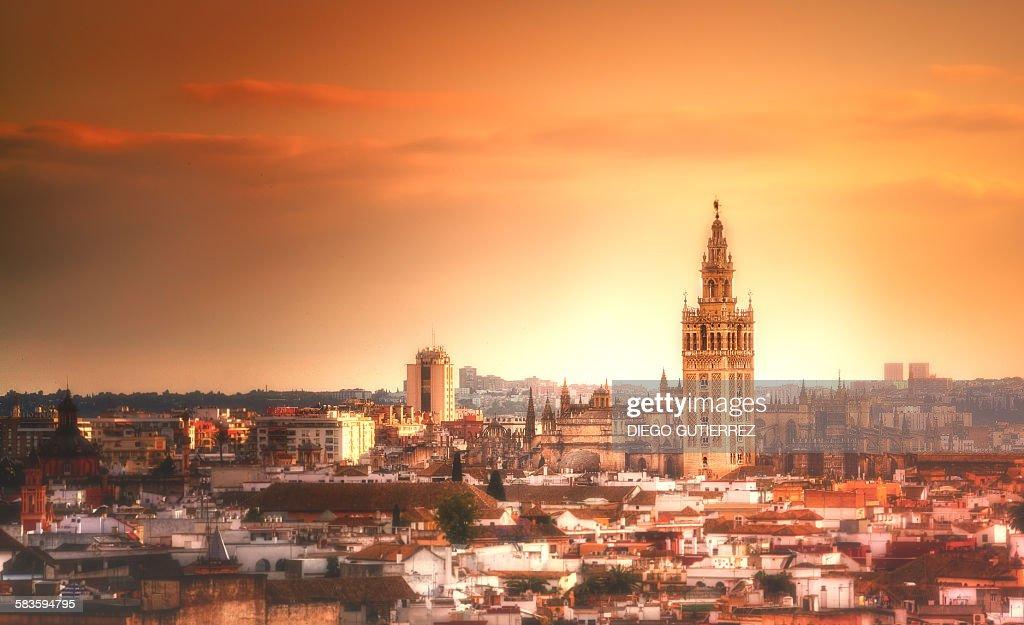 Seville`s skyline : Stock Photo