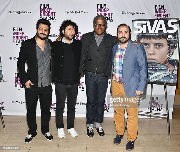 Sevki Tuna Erturk Kaan Mujdeci Elvis Mitchell and Mehmet Gungoren attend the Film Independent at LACMA screening and QA of Sivas at Bing Theatre At...