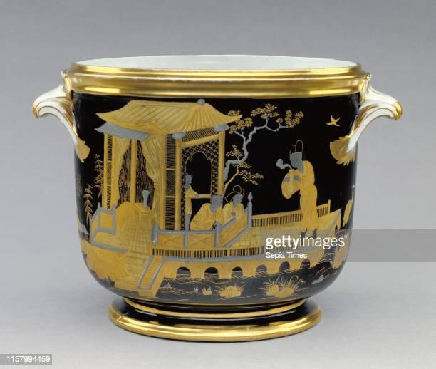 Sevres Manufactory. French. Active 1756 - present. Sevres. France. Europe. 1791. Hard-paste porcelain. Black enamel ground with platinum and gold...