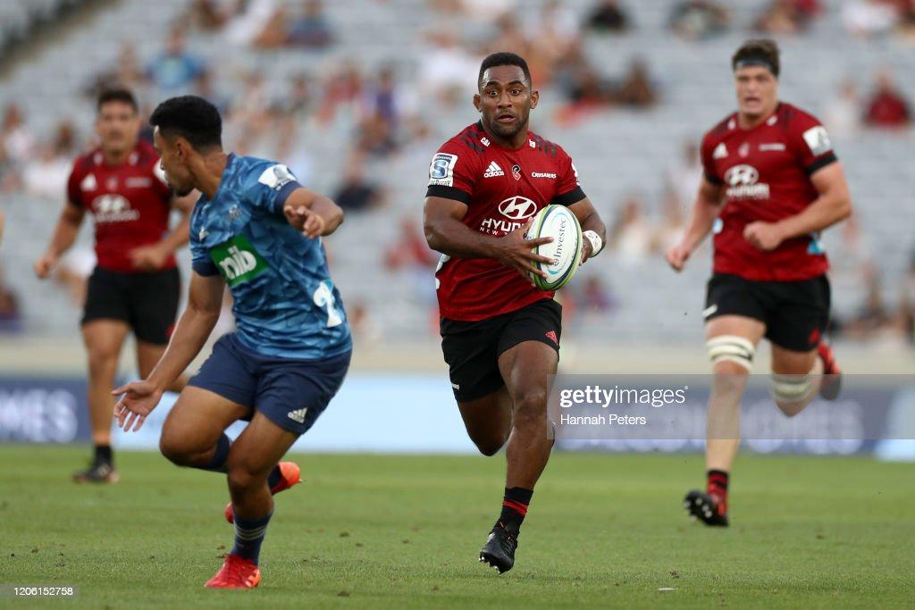 Super Rugby Rd 3 - Blues v Crusaders : News Photo