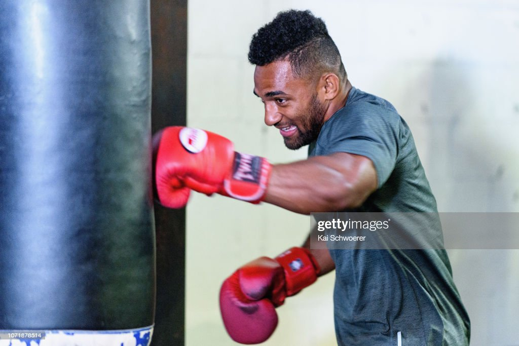 Crusaders Join Joseph Parker In Boxing Session : News Photo