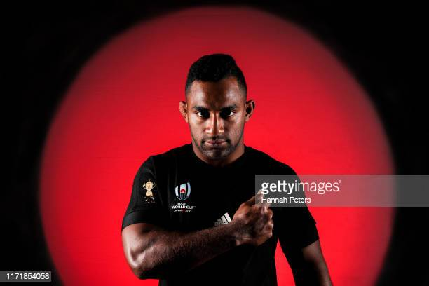 Sevu Reece poses during the New Zealand All Blacks Rugby World Cup Portrait Session on August 29 2019 in Auckland New Zealand
